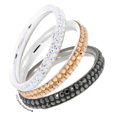 Slim Wedding Ring 2 Chaton Rows