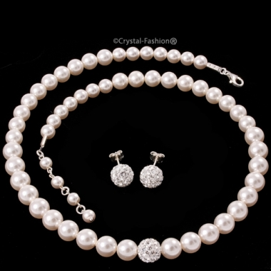 Winter Pearl Set Clear-WhitePearl