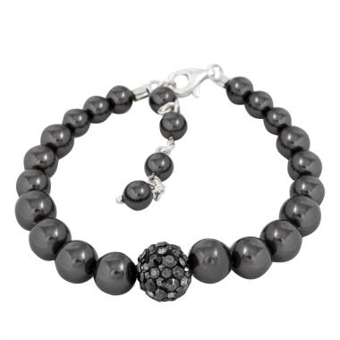 Winter Pearl Bracelet SiNi-JetHem-MysticBlackPearl