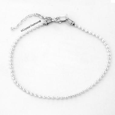 Silver Ball Chain Bracelet [1,8mm] 20,2cm