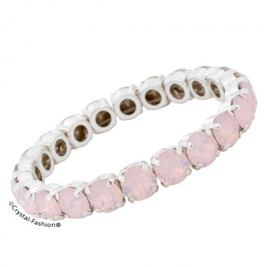 Chaton Elastic Bracelet (ss34) RoseWaterOpal