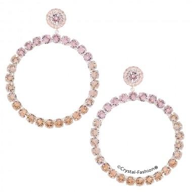 Chaton Round Earrings 8cm