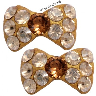Crystals for nails: Gold Bow Tie U05 (8mm)