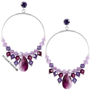 Ioana Pear Round Earrings 6,9cm