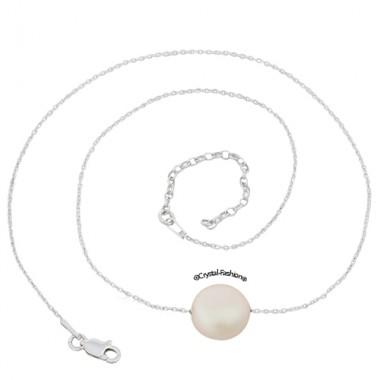 Skin Chain Coin Pearl 10 PearlescentWhite