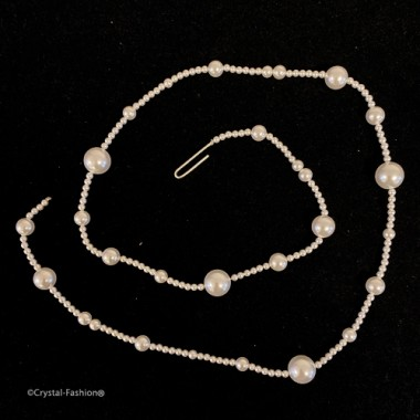 """Pearly String """"1"""" 72cm WhitePearl"""