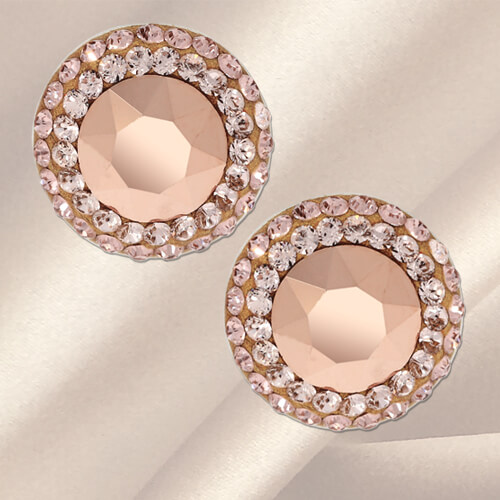 cercei swarovski cristale aurii